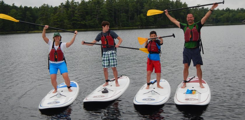 Stand Up Paddleboarding in Bar Harbor