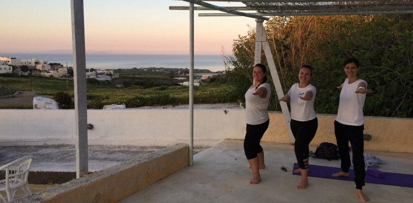 Yoga Retreat in Santorini