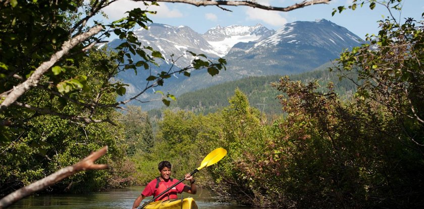 Kayaking in Whistler