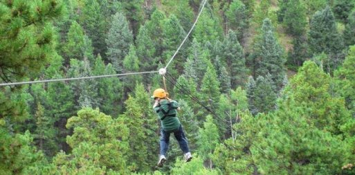 Ziplining in Golden