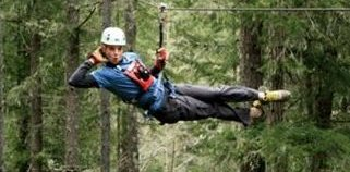 Ziplining in Sooke with Alex D.
