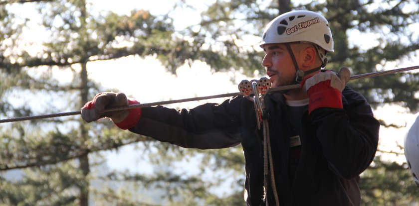 Ziplining in Sooke with Andrew M.