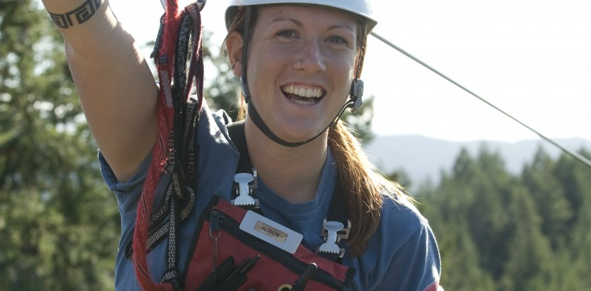 Ziplining in Sooke with Alison L.