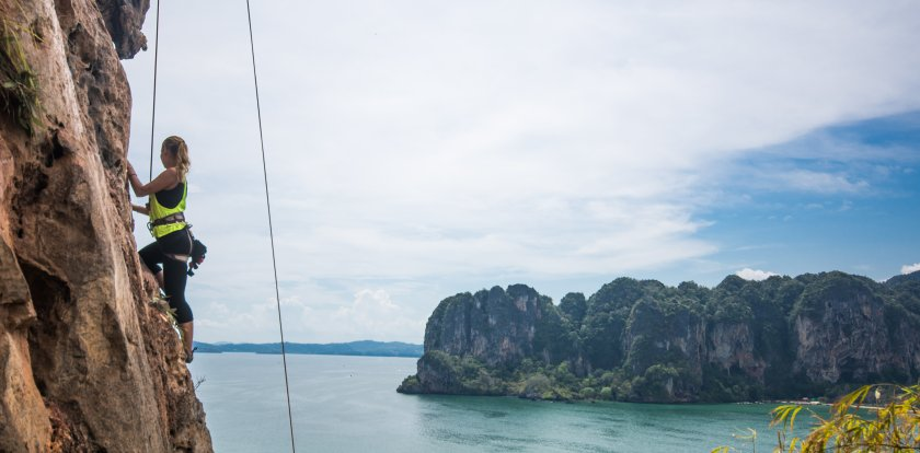 Climbing in Railay Beach