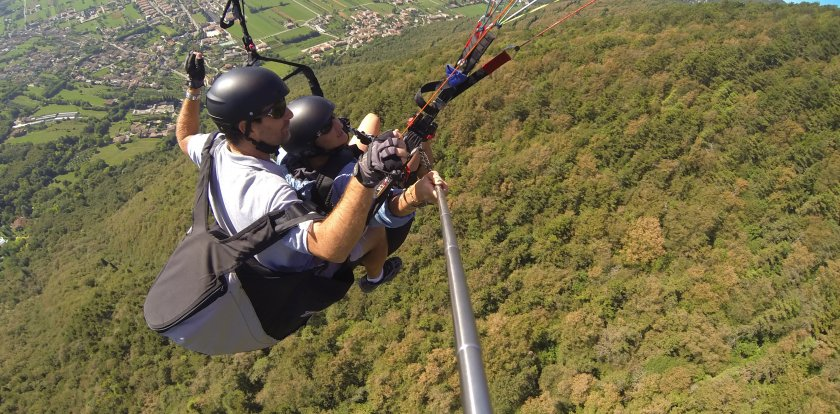 Paragliding in Treviso with Fabio