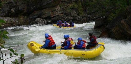 Rafting in British Columbia
