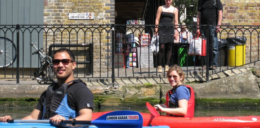 Kayaking in London with Niamh Gillard