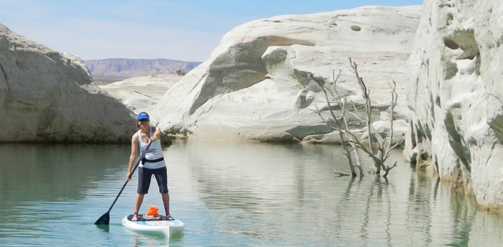 Stand Up Paddleboarding in Lake Powell
