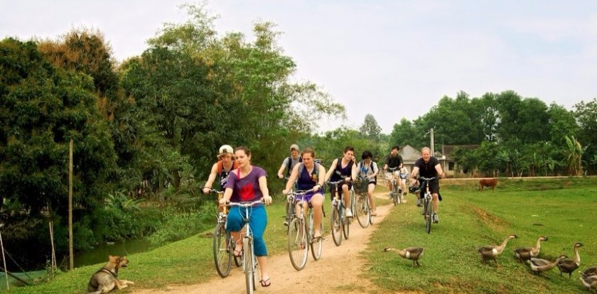 Cycling in Hanoi