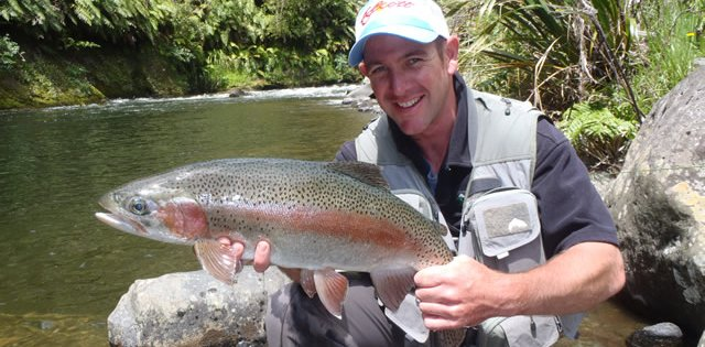 Fishing in Taupo with Andrew Christmas