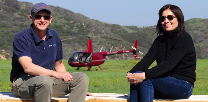 Helicopter Tour in Los Angeles with Claudia & Peter Lowry