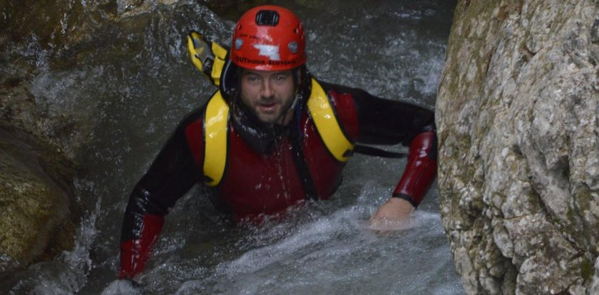 Canyoneering in Bled with Saso