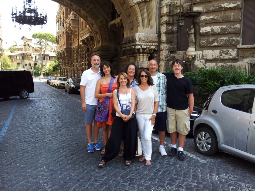 Tiziana (front and centre) has been showcasing Rome's highlights for over 10 years