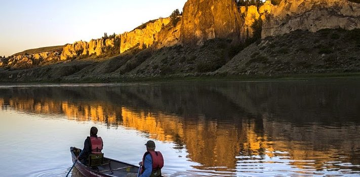 Canoeing in Fort Benton