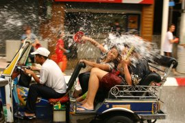 Get Super Soaked At The 2016 Songkran Festival