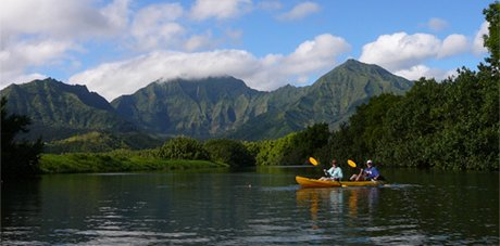 Kayaking in Hanalei