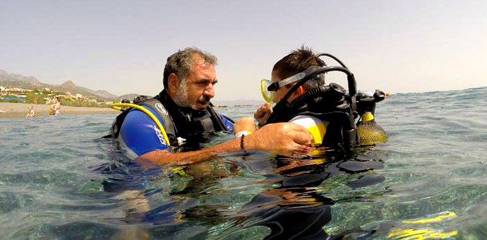 Scuba Diving in Crete with Lefteris Papamichail