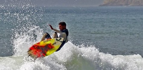 Surfing in Agadir