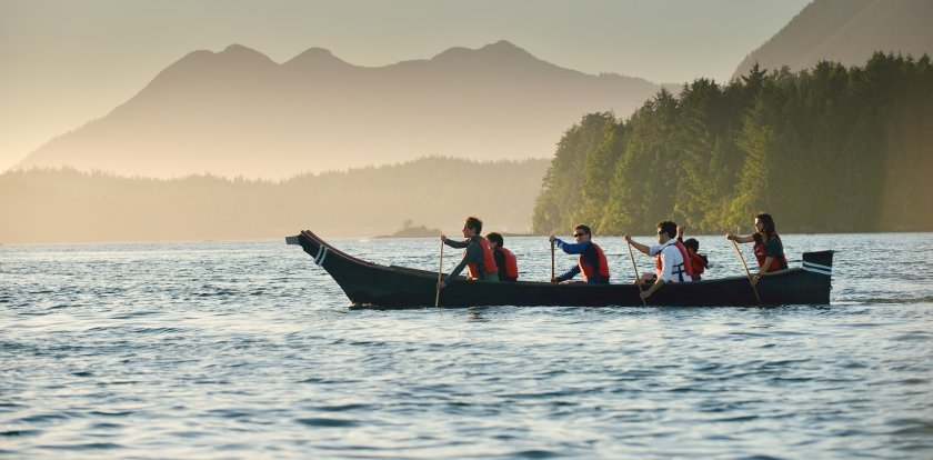 Canoeing in Tofino