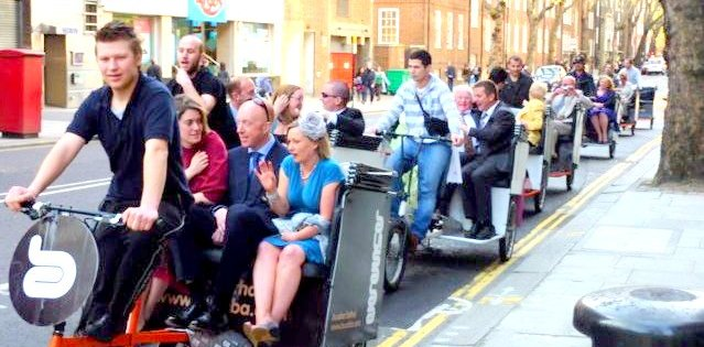 Pedicab Tour in London with Ozzie Rise